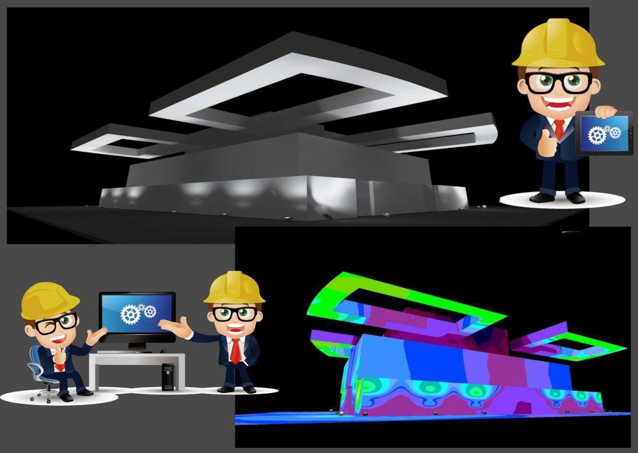 Расчет в программной среде и 3D-визуализация