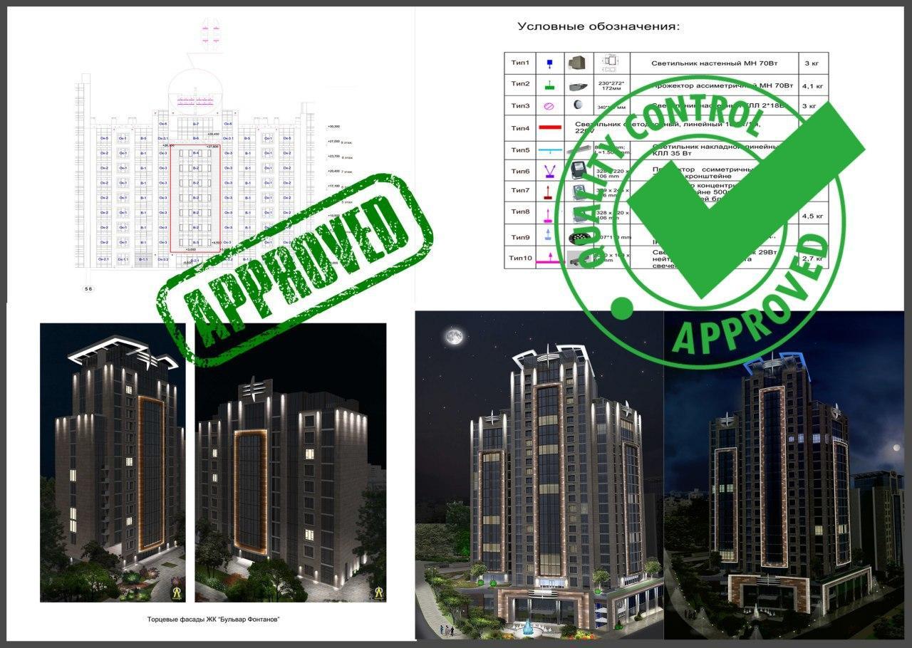 Проект архитектурного освещения. Презентация проекта