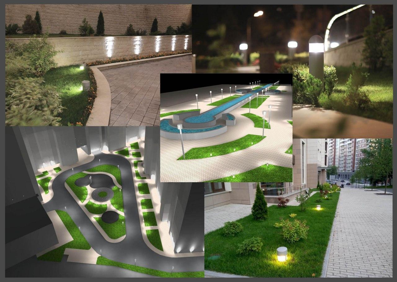 Проектирование ландшафтного освещения и прилегающей территории (при необходимости)