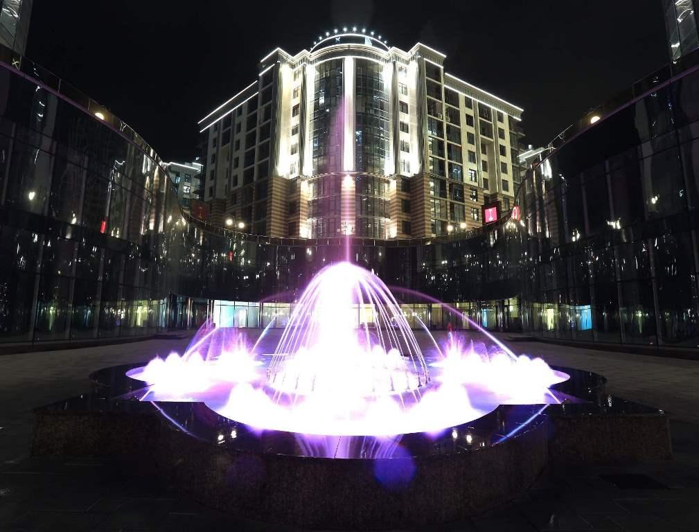 Освещение фонтана ЖК «Новопечерские липки»