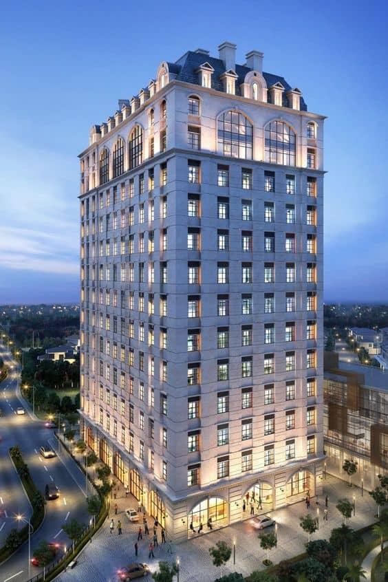 Примеры освещения зданий с классической архитектурой 20х-50х гг. ХХ столетия